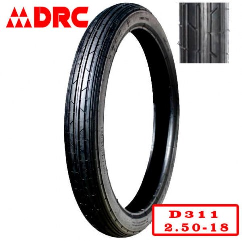 DRC 2.50-18 D-311 | Мотопокрышка мотоцикл/мопед