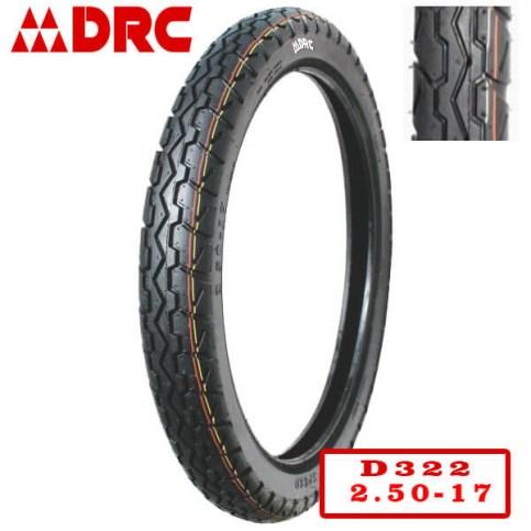 DRC 2.50-17 D-322 | Мотопокрышка мотоцикл/мопед