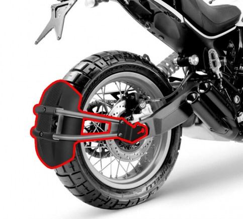 Брызговик задний для мотоцикла универсальный