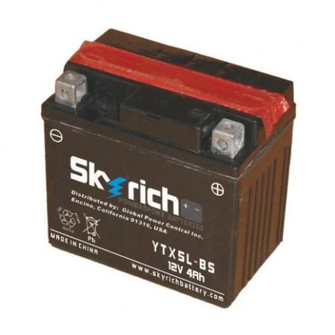 Аккумулятор Skyrich YTX5L-BS 12V 4 Ah